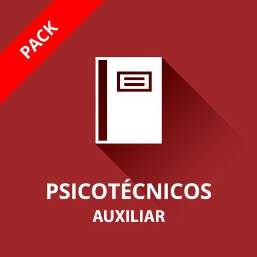 Icono curso psicotécnicos auxiliar administrativo pack de tres