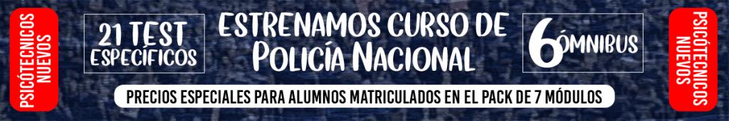 Banner módulo VIII psicotecnicos Policía Nacional
