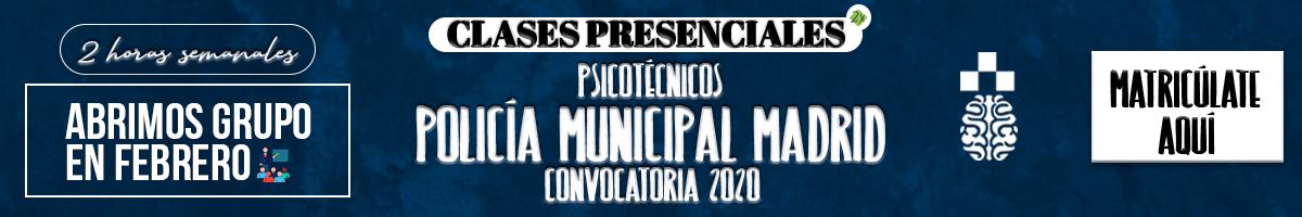 Clases Presenciales - PolicíaM - Banner 1200x600