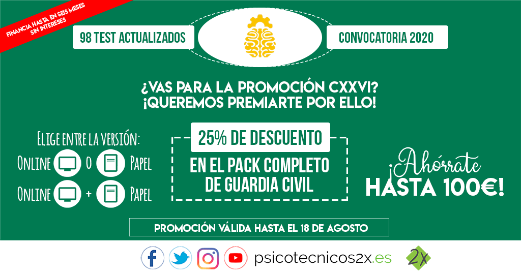 Promoción Pack Completo Guardia Civil