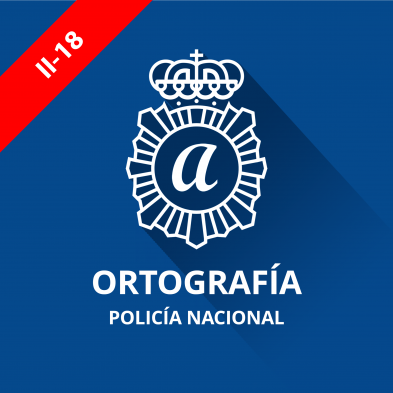 imagen curso ortografía policía nacional 2016 escala básica categoría policía
