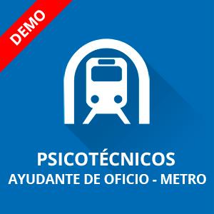 Psicotécnicos ayudante de oficio Metro demo