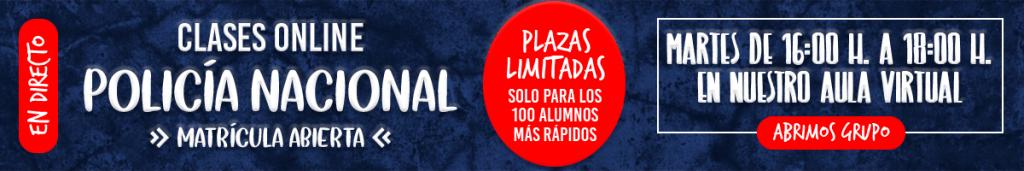 Banner Clases Online Psicotécnicos Policía Nacional 1200x200
