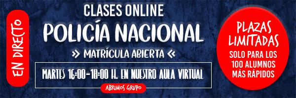 Banner Clases Online Psicotécnicos Policía Nacional 600x200