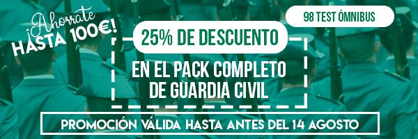 Banner Corto Oferta Descuento Guardia Civil