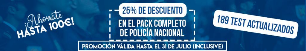 Banner Largo Oferta Descuento Policía Nacional