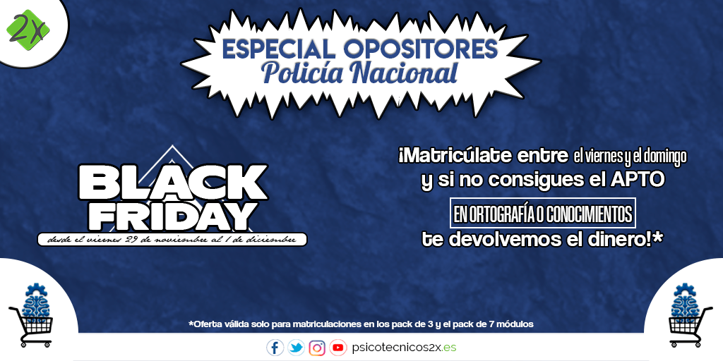 Black Friday 2019 Policía Nacional Twitter