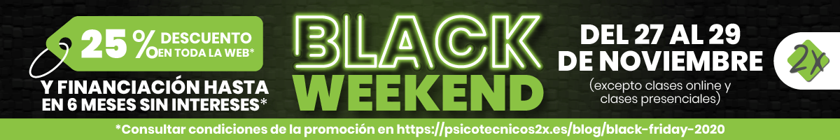 Black Weekend Psicotécnicos2x