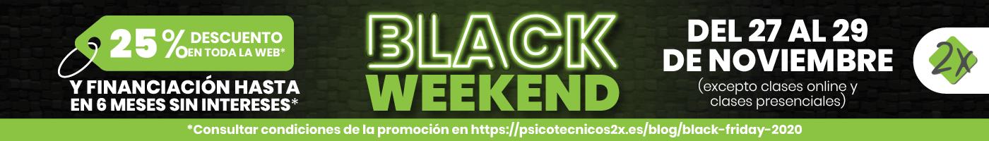 Black Weekend Psicotécnicos2x