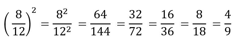 Calcular potencias fracciones