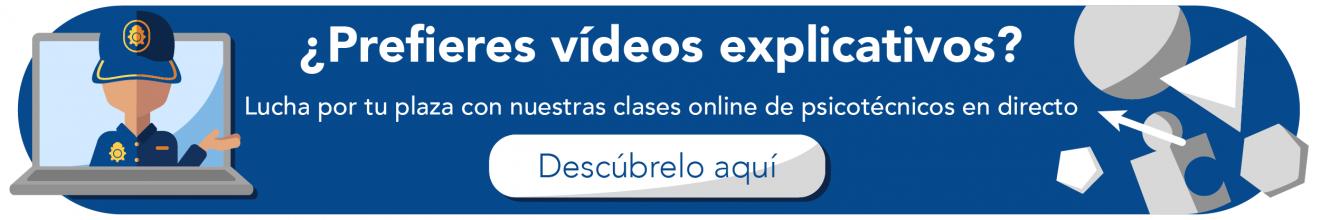 Banner clase online psicotécnicos Policía Nacional