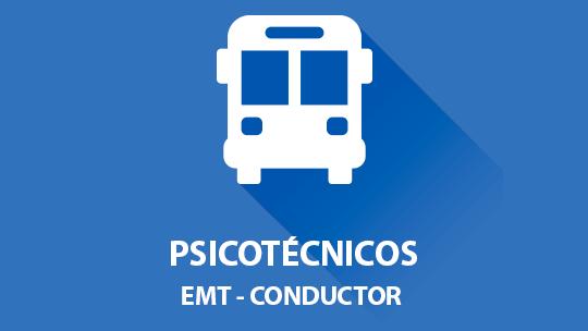 Conductor para EMT oposición examen psicotécnico