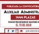 Convocatoria Auxiliar Administrativo 2019: 1444 plazas