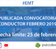 Convocatoria Conductor EMT 2019
