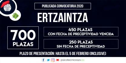 Convocatoria Ertzaintza 2020 700 plazas Twitter