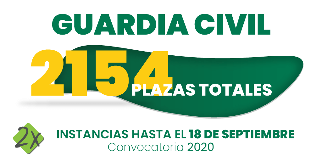 convocatoria Guardia Civil 2020 - 2154 plazas - Psicotécnicos2x