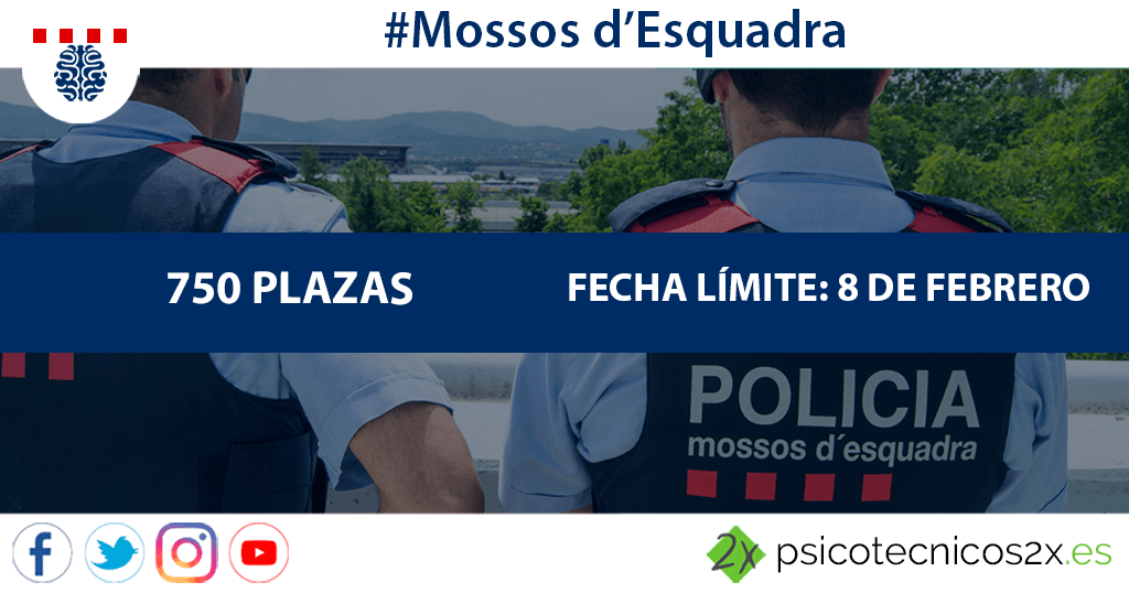 Convocatoria Mossos d'Esquadra 2019: 750 plazas
