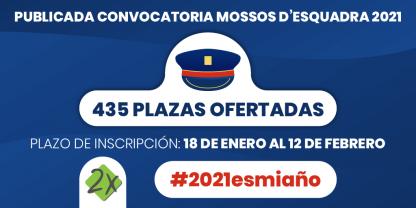 Convocatoria Mossos Esquadra 2021 Requisitos