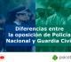 6 diferencias oposición Guardia Civil y Policía Nacional