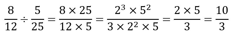 Dividir fracciones - Descomposición en fracciones