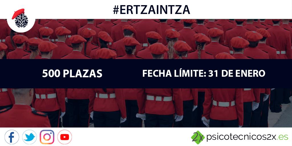 Convocatoria Ertzaintza 2018: 500 plazas