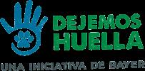 Logo Dejemos Huella (Bayer) - AdoptaUnJubilado