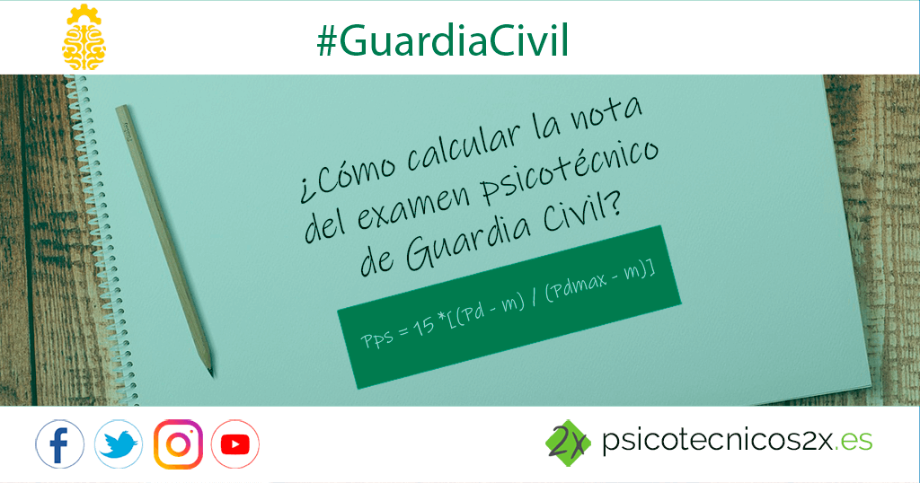 Nota psicotécnicos Guardia Civil: cómo calcularla
