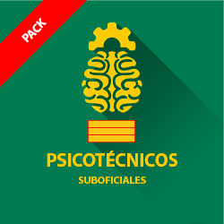 Pack psicotécnicos Guardia Civil - Suboficiales (Sargento)