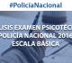 Análisis Examen Psicotécnico Policía Nacional 2016