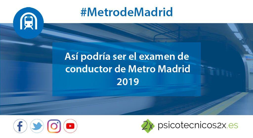 Así sería el examen de oposiciones Metro Madrid 2019