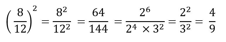 Potencias descomponer en factores - Fracciones