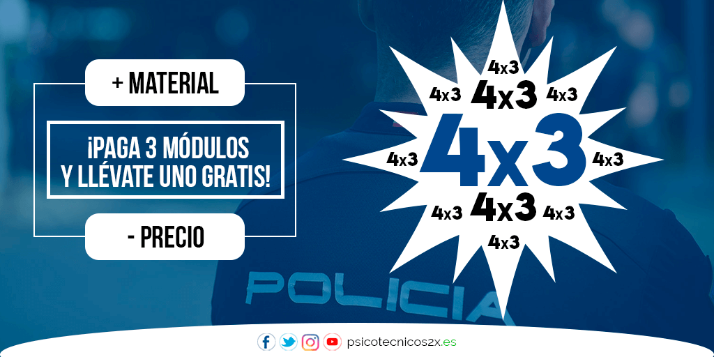 Promoción 4x3 Psicotécnicos Policía Nacional Twitter