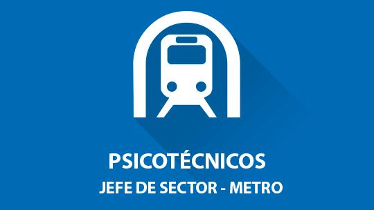Psicotécnicos oposición Jefe de Sector (Metro Madrid)