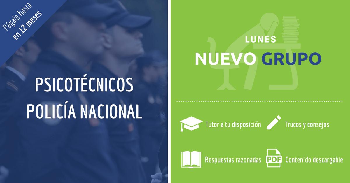 Psicotécnicos Policía Nacional 2017