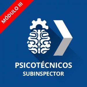 Curso psicotécnicos Policía Nacional Subinspector Módulo III