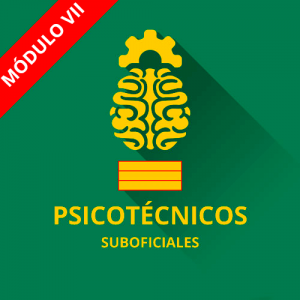 Psicotécnicos Suboficial Guardia Civil módulo VII