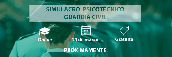 Simulacro examen psicotécnico Guardia Civil