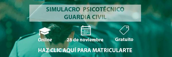 Simulacro Gratuito Online Guardia Civil - Psicotécnicos2x
