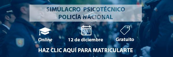 Simulacro psicotécnico Gratuito Online para la oposición a Policía Nacional, EB