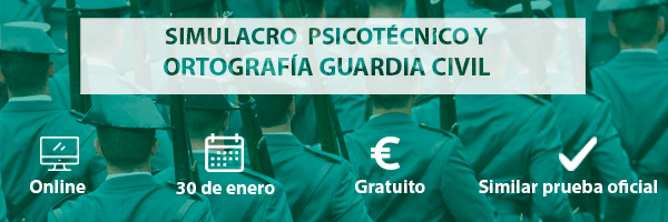 Simulacro Guardia Civil Enero 2019