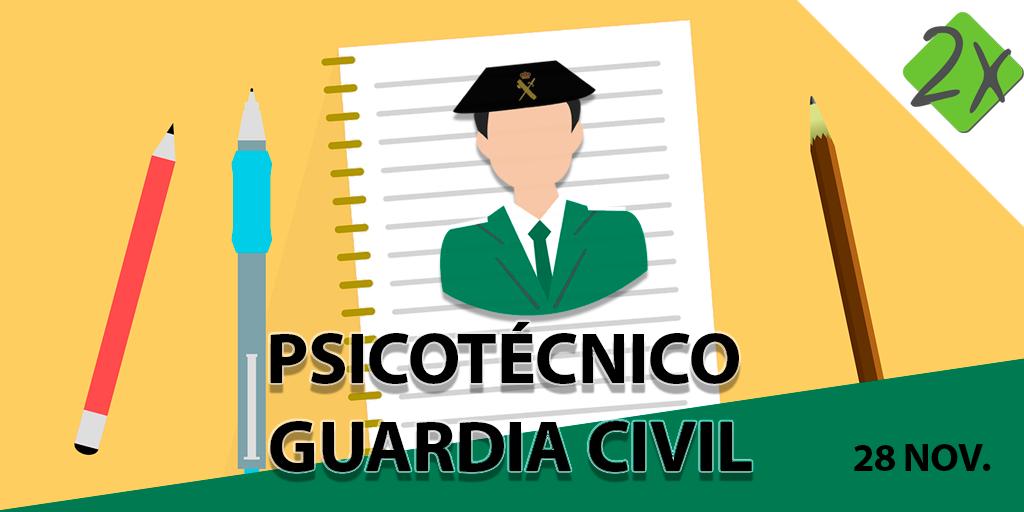 Simulacro Guardia Civil Psicotécnicos - Noviembre 2017