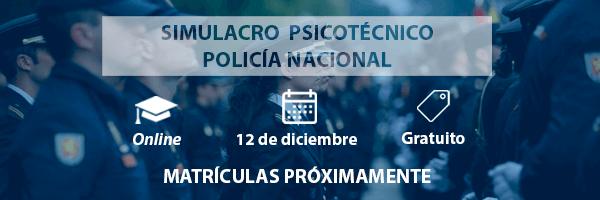 Simulacro psicotécnico gratuito Policía Nacional - Psicotécnicos2x