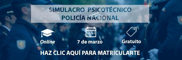 Simulacro psicotécnico Policía Nacional