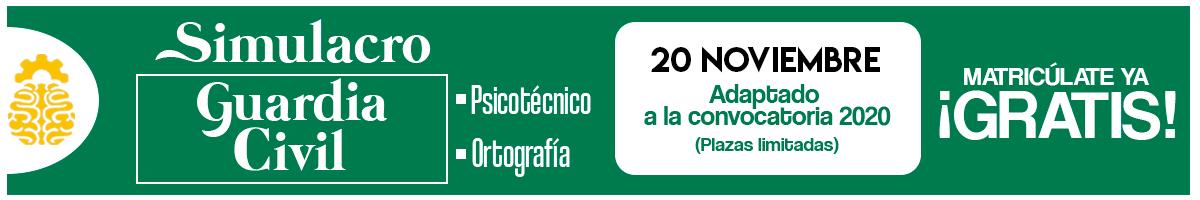 Simulacro Psicotécnicos Ortografía Guardia Civil Noviembre 2019