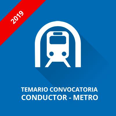 Temario Metro Madrid conductor 2019