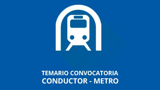Temario Metro Madrid Conductor